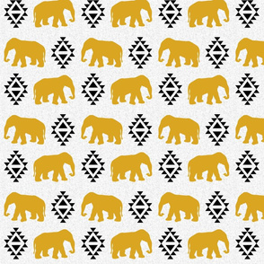 elephant golden white