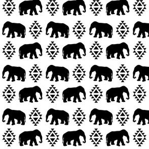 elephant white black monochrome minimal color palette