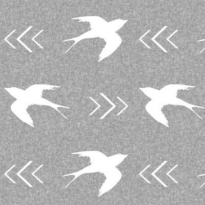 swallow bird light grey