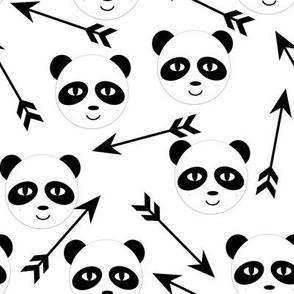 panda arrow black and white minimal monochrome swedish kids trendy hipster design for black and white nursery kids baby leggings