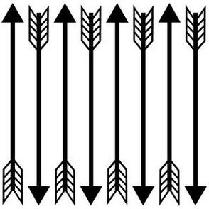 arrow white black