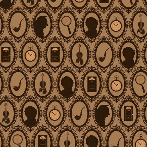 Detective Antique Brown fabric by costumewrangler on Spoonflower - custom fabric