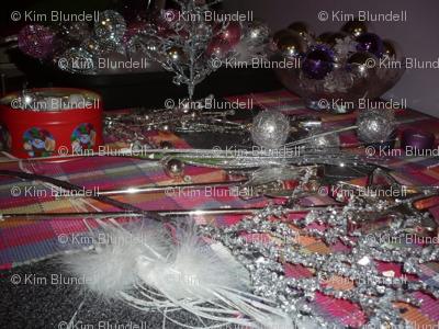 Christmas ornaments sparkling