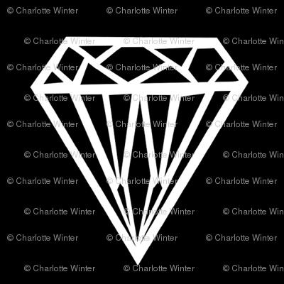 diamond black white