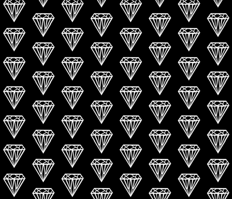 diamond black white fabric by charlottewinter on Spoonflower - custom fabric