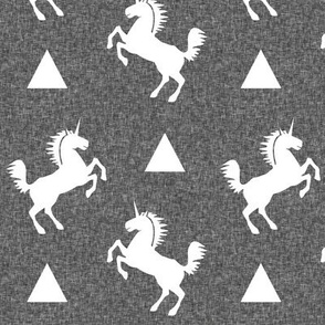 unicorn charcoal linen