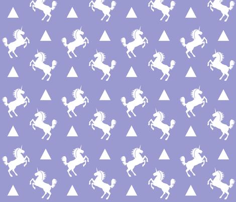 unicorn lavender fabric by charlottewinter on Spoonflower - custom fabric