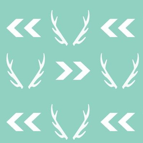 antler mint chevron arrow design for nursery