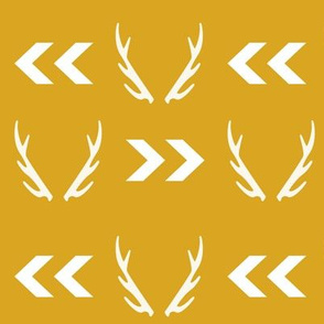 antler gold chevron yellow mustard arrow