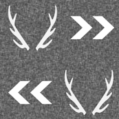 antler linen charcoal grey texture chevron arrow