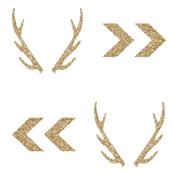 gold glitter antler chevron arrow