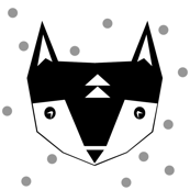 fox black white