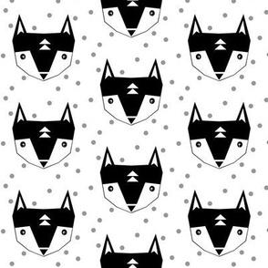 fox black white