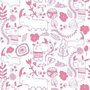 rhinoceros rhino pink