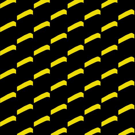High Rise Balconies Yellow Black fabric by eve_catt_art on Spoonflower - custom fabric