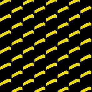 High Rise Balconies Yellow Black