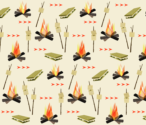 More s'mores fabric by mulberry_tree on Spoonflower - custom fabric