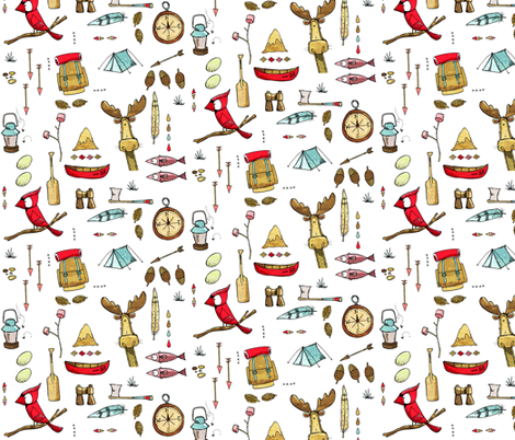 Wild Things, colour fabric by mulberry_tree on Spoonflower - custom fabric