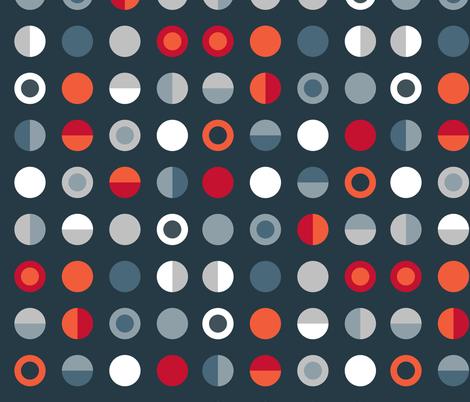 Bot Dot dark fabric by spellstone on Spoonflower - custom fabric