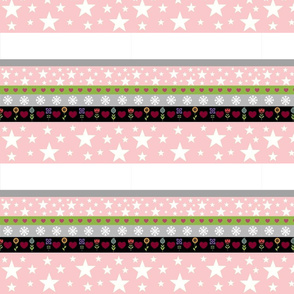 Holiday Star - pink white stripe