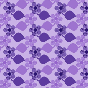 Dotty Purple Flowers