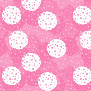 Dotty White and Light Pink Dots