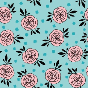 roses - light blue