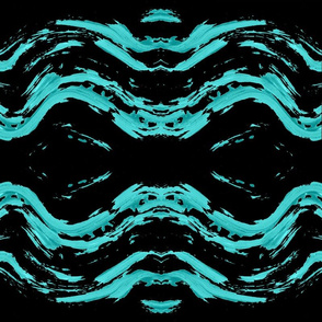 Blue Turquoise Ocean Wave on black Ripple Pattern