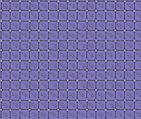 Dachshund plaid on purple background fabric by shawndachs on Spoonflower - custom fabric