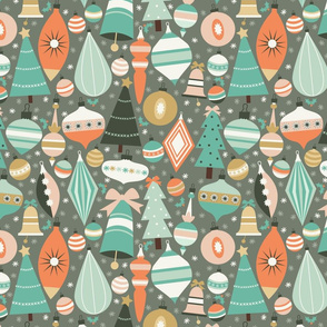 Christmas Baubles in Teal