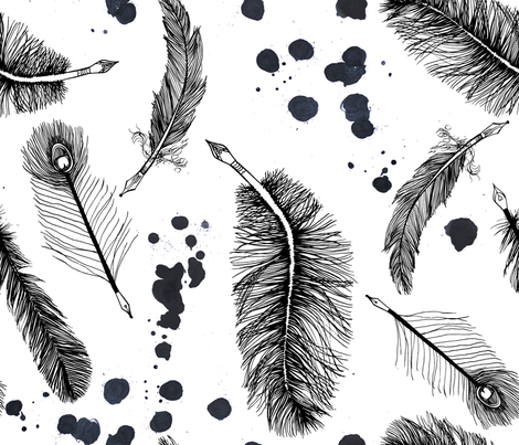 Ink and Pen fabric by emilysanford on Spoonflower - custom fabric