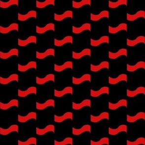Scarlet Ripples on Black