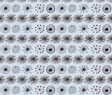 flower garden horizontal fabric by shiny on Spoonflower - custom fabric