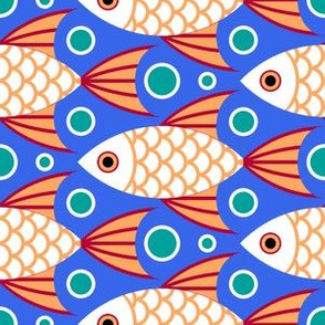 03650915 : finned fish + bubbles