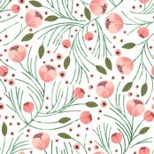 winter floral // pine