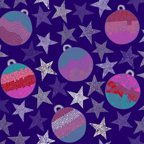 Totes Amaze-Baubles (Deep purple background)