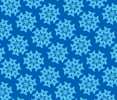 snowflakes2 fabric by hannafate on Spoonflower - custom fabric