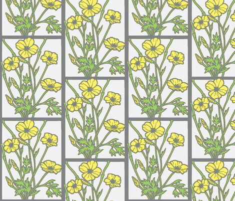 poppies_on_white fabric by dsa_designs on Spoonflower - custom fabric