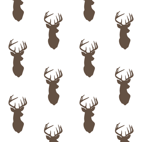Brown Buck // Small Scale fabric by littlearrowdesign on Spoonflower - custom fabric