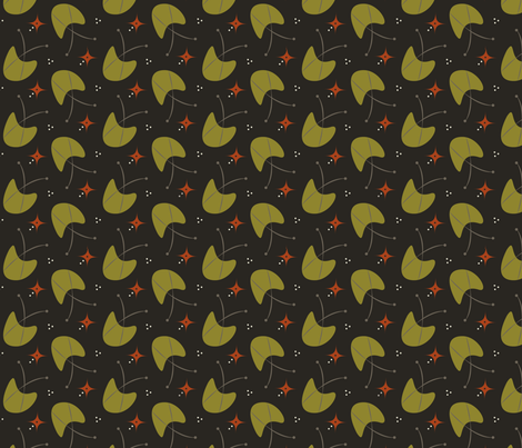 Olive Tulip Burst fabric by crafte on Spoonflower - custom fabric