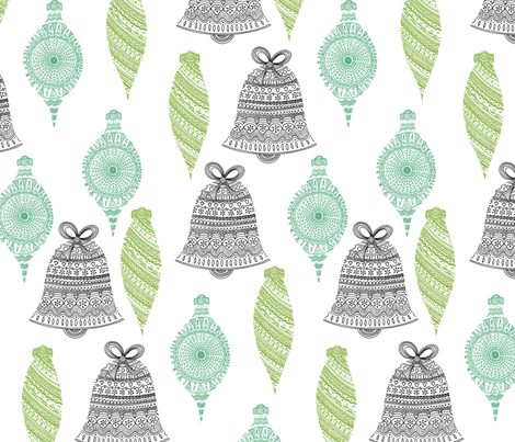 """""""the details are sketchy"""" ornaments fabric by bubbledog on Spoonflower - custom fabric"""