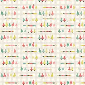 Retro Holiday Christmas Trees