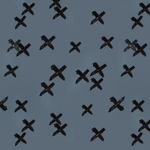 Scattered Crosses - Navy