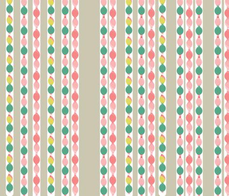 Retro Holiday Garden Beige fabric by mainsail_studio on Spoonflower - custom fabric