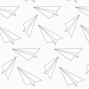 b&w paper plane - elvelyckan