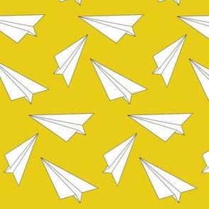 yellow paper plane - elvelyckan