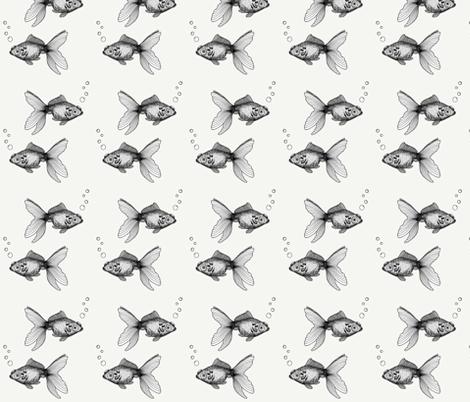 Goldfish on Cream fabric by bella_modiste on Spoonflower - custom fabric
