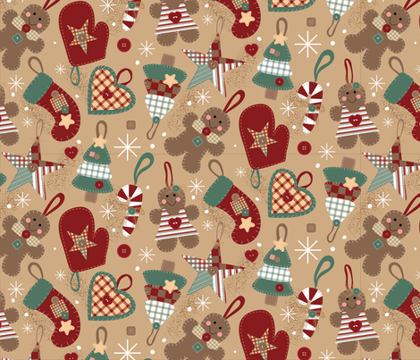 Country Christmas fabric by lisa_kubenez on Spoonflower - custom fabric