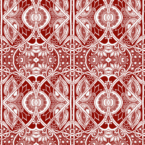 Have a Very Victorian Christmas fabric by edsel2084 on Spoonflower - custom fabric