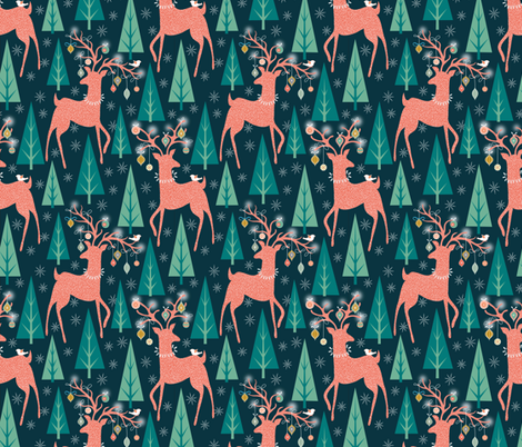 Forest ornaments fabric by vo_aka_virginiao on Spoonflower - custom fabric